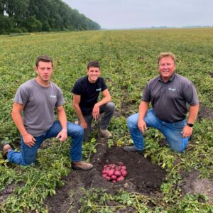 Teamwork produces the best red potatoes in the world at Campbell Farms